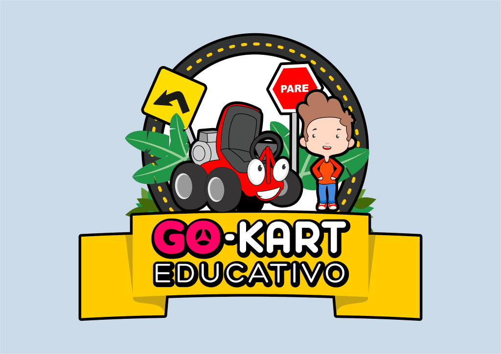 Mascote Go-Kart Educativo